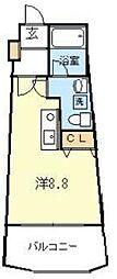 インフィールド溝口[9階]の間取り
