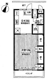 コンプレール[3階]の間取り