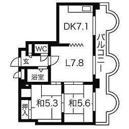 エンドレスリバーサイド[13階]の間取り
