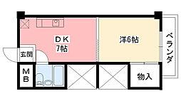 ドミトリー甲子園[305号室]の間取り