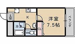 K'sクラブハウス[411号室号室]の間取り