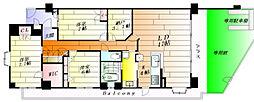 エールグラン千里丘オープンヒルズA棟[1階]の間取り