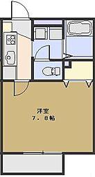 プランドール蕨[201号室号室]の間取り