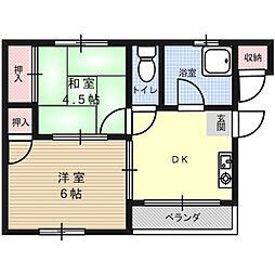 暁マンション[0301号室]の間取り