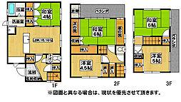 [一戸建] 福岡県北九州市八幡西区青山2丁目 の賃貸【/】の間取り