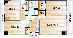 THE SQUARE Suite Residence[706号室]の間取り