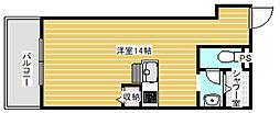 大阪府大阪市西成区南津守2丁目の賃貸マンションの間取り