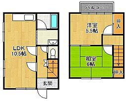 [テラスハウス] 兵庫県宝塚市高司3丁目 の賃貸【/】の間取り