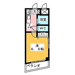 ドルフ亀島II[1階]の間取り