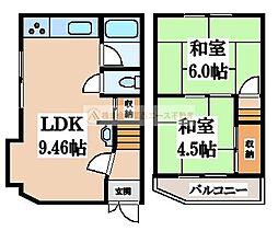 [一戸建] 大阪府堺市中区新家町 の賃貸【/】の間取り