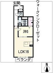Promenade唐山[1階]の間取り