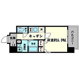エスリード心斎橋EAST[11階]の間取り