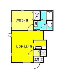 神奈川県横浜市都筑区加賀原1丁目の賃貸アパートの間取り