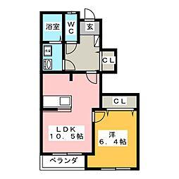 シャルフI[1階]の間取り