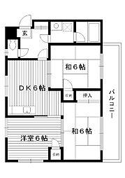 東京都練馬区土支田の賃貸マンションの間取り
