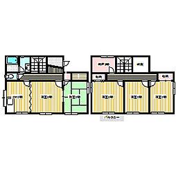 [一戸建] 岡山県赤磐市桜が丘西5丁目 の賃貸【/】の間取り