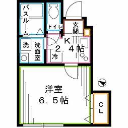 東京メトロ丸ノ内線 新高円寺駅 徒歩3分の賃貸アパート 1階1Kの間取り