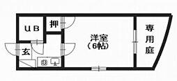 カームマンション[1階]の間取り