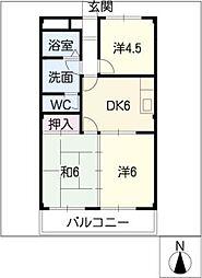 エクシードB・C[2階]の間取り