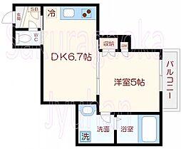 WOOD HOUSE EAST[2階]の間取り