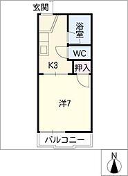 フォーブル渋谷 A[2階]の間取り