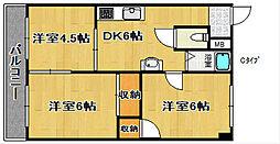 グランビルド北加賀屋II[3階]の間取り