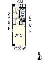 GRANDSCENA新町[4階]の間取り