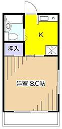 東京都東村山市萩山町4丁目の賃貸マンションの間取り
