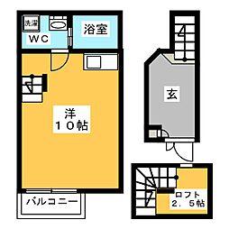 ガレット松島[1階]の間取り