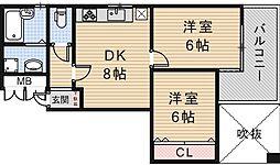 メゾンドアドン[4階]の間取り
