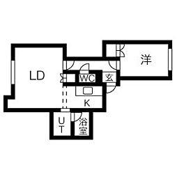 エリエール1[2階]の間取り