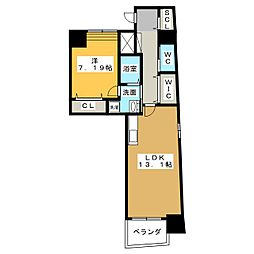 N apartment[9階]の間取り