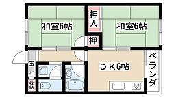 愛知県名古屋市緑区徳重5丁目の賃貸マンションの間取り