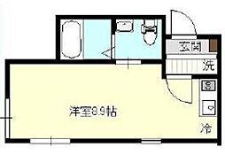 神奈川県横浜市旭区白根6丁目の賃貸アパートの間取り