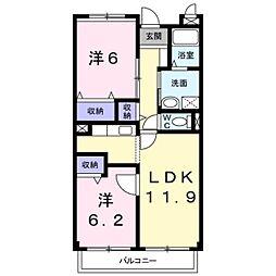 千葉県松戸市五香西3丁目の賃貸マンションの間取り