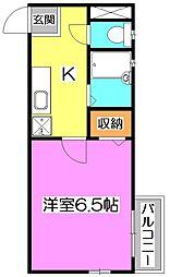エスポアール・モナミ[2階]の間取り