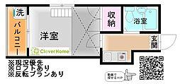 神奈川県相模原市中央区東淵野辺5丁目の賃貸アパートの間取り
