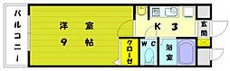 ギャラン赤間駅前[4階]の間取り
