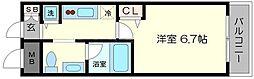 ビガーポリス224松ヶ枝町II[6階]の間取り