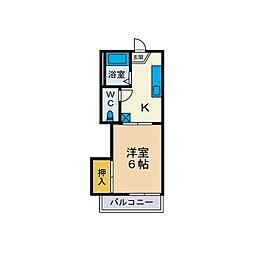 古松台ハイツC[2階]の間取り
