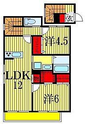 千葉県船橋市東船橋4丁目の賃貸マンションの間取り