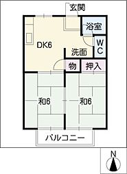 パナハイツ渕高[1階]の間取り