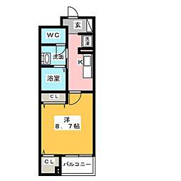 静岡県静岡市駿河区中田3丁目の賃貸マンションの間取り