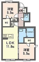 (仮)三室町シャーメゾン[1階]の間取り