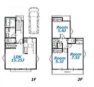 建物参考プラン:間取り/3LDK、延床面積/79.38、土地建物参考価格/4280万円(税込)