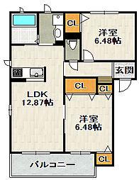 High Life Takarazuka (ハイライフタカラヅカ)[3階]の間取り