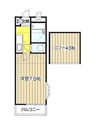 クレセントハイツ21[2階]の間取り