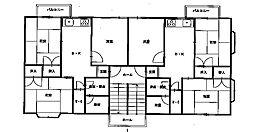 三条鹿島コーポ[2-D号室]の間取り