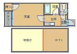 長崎県長崎市宿町の賃貸アパートの間取り