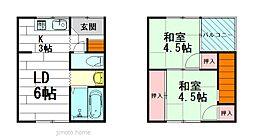 [テラスハウス] 大阪府豊中市豊南町東3丁目 の賃貸【/】の間取り